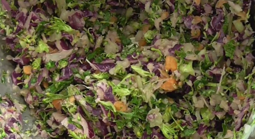 A Quick Salad Creation Using A Thermomix
